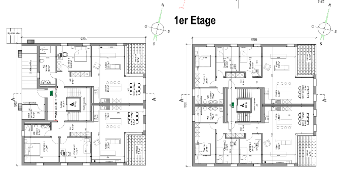 plan 6 appartements. Black Bedroom Furniture Sets. Home Design Ideas