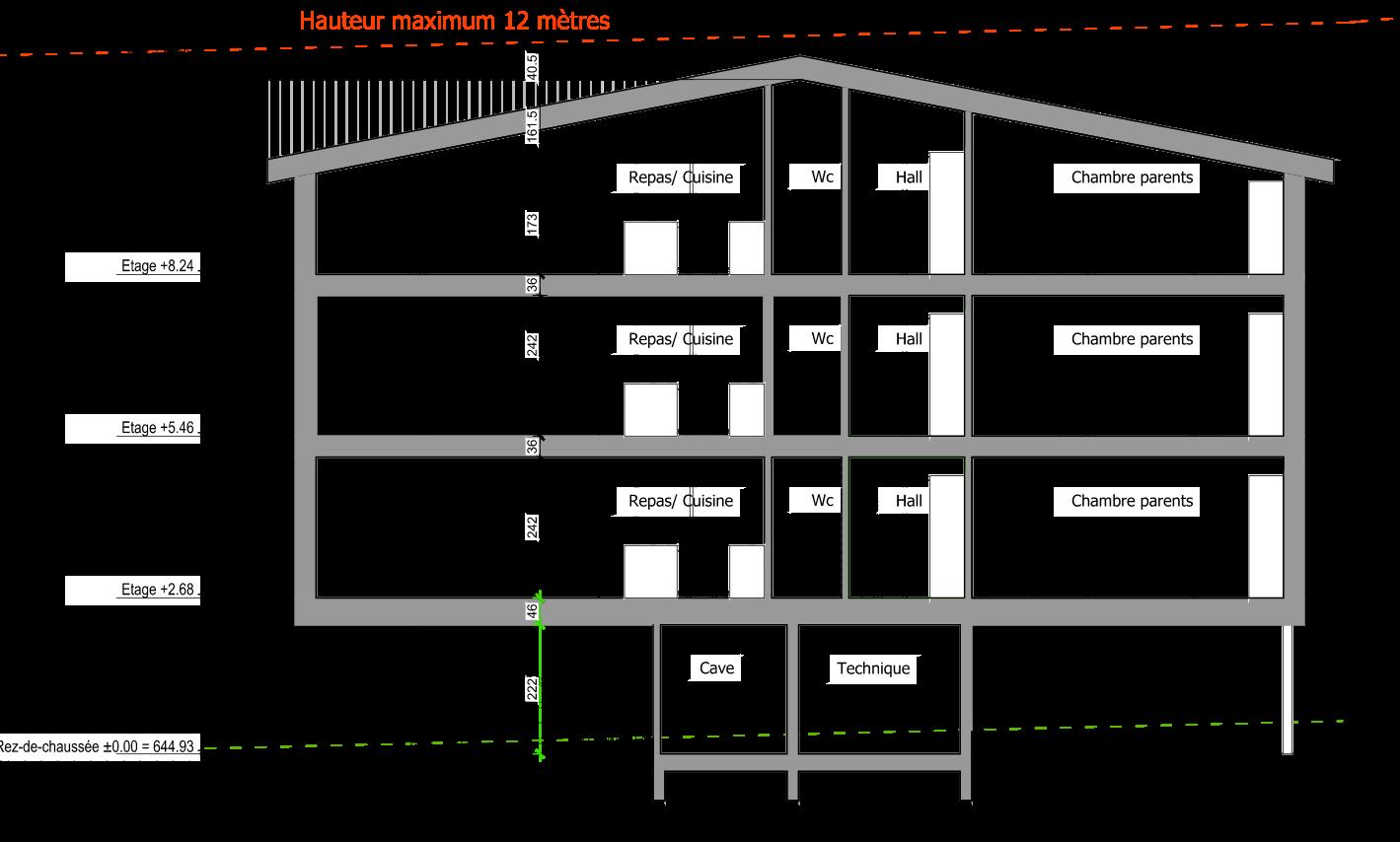Immeuble de 6 appartements à mannens